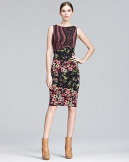 Jean Paul Gaultier Mixed-Print Sheath Dress  #www.frenchriviera.com: Fall Jeans, B1U6W Jean, Mixed Print Sheath, Jean Paul Gaultier, Printed Dresses, Mixed Prints, Gaultier Mixed Print, Sheath Dresses