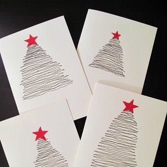 biglietti natalizi: Sewing Machines, Handmade Cards, Holiday Cards, The Mode, Card Tutorials, Cards Tutorials, Christmas Trees, Xmas Cards, Diy Christmas Cards