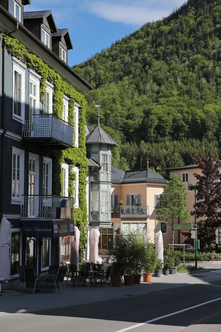 Film and Photo Shoot Locations in Austria: Street with Cafe, Bad Ischl