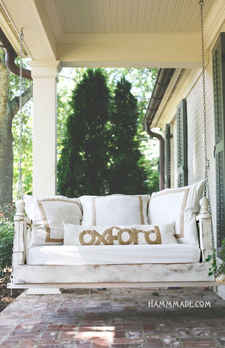 15 best porch beds (hanging) images on Pinterest | 3/4 beds, Bed ...