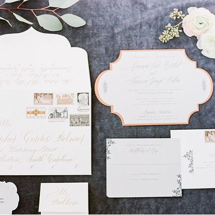 Thank you @weddingsparrow for the gorgeous feature today that includes the stationery suite we designed. The shoot was meticulously designed and styled by @sapphireevents and photographed by @julielivingstonphotography #wedding #invitations #luxurydesign #vintage
