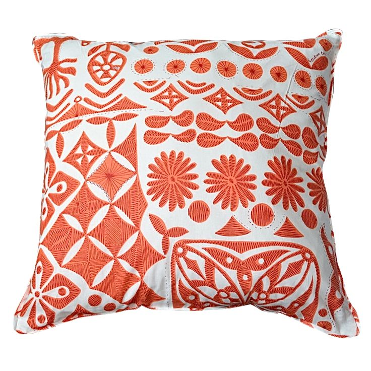hardtofind. | Coral abstract cushion cover