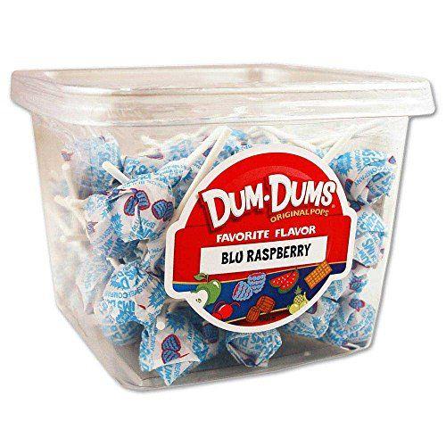 Dum Dums - Blu Raspberry Dum Dum http://www.amazon.com/dp/B00ICQ383A/ref=cm_sw_r_pi_dp_8kRnwb0SJ0HRG