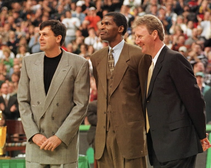 robert parish | Robert Parish, flanked by Kevin McHale and Larry Bird, doesnt think ...