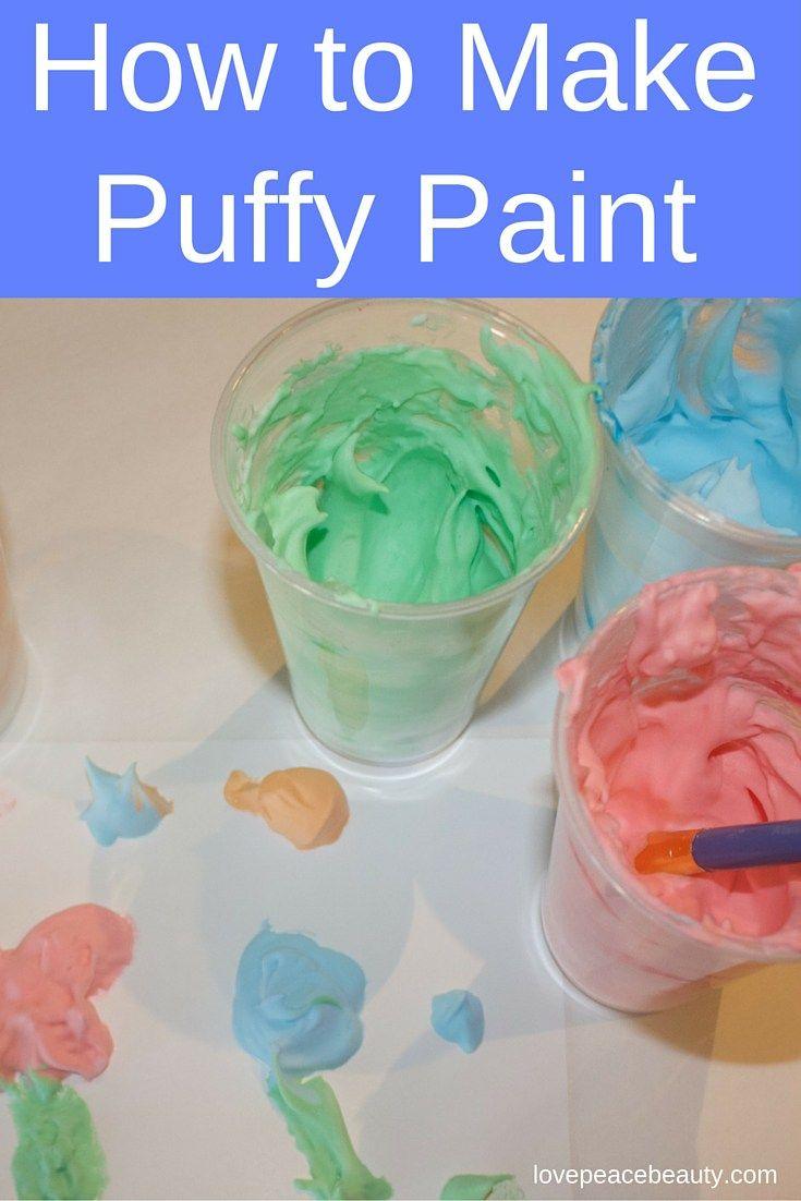 How to make shaving cream puffy paint shaving puffy for Shaving cream paint