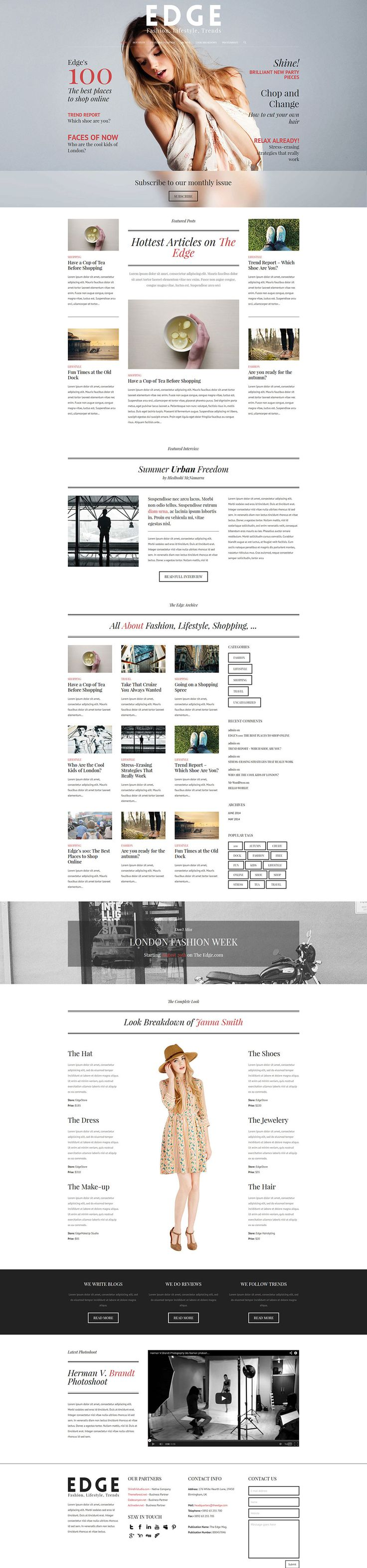 A creative take on a magazine website. This is a one-page magazine web design for wordpress. Check out the template http://themeforest.net/item/the-edge-one-page-multipurpose-wordpress-theme/8056417?WT.ac=new_item&WT.z_author=Br0