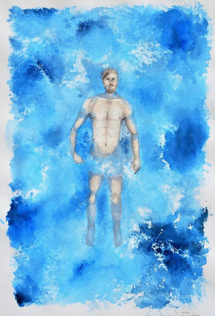 #illistration #illustrationart #illustrationoftheday #art #artist #artoftheday #photooftheday #winsorandnewton #watercolorpainting #watercoloroftheday #watercolor #blue #blue💙 #man #anatomydays #anatomy #cool #deepblue #deep #sea  #fabbriano #drawing #drawingtime #draw