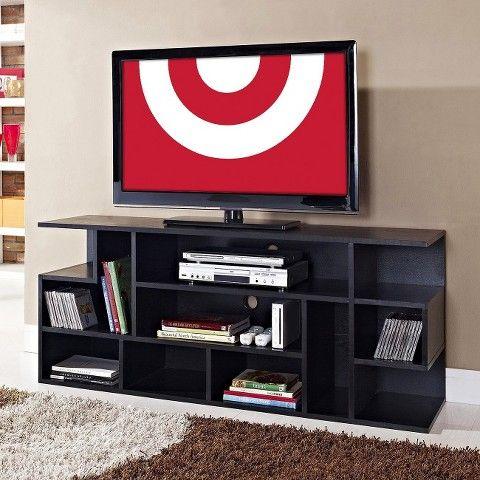 "Modern Style Wood TV Stand - Black (60"") - Walker Edison"