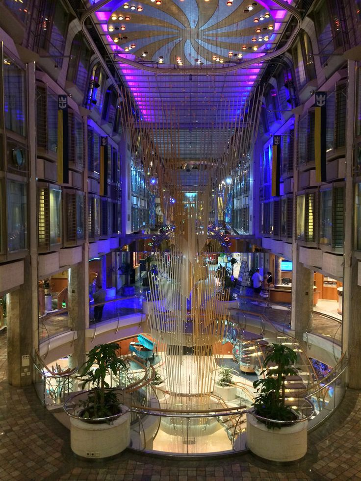 Looking toward the Royal Promenade on Voyager of the Seas.