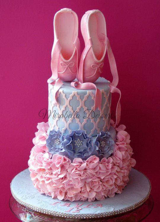 www.cakecoachonline.com - sharing...Ballerina cakeOh so precious jusst right for a dance class graduate.