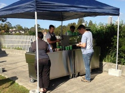 Small Mobile Coffee Carts