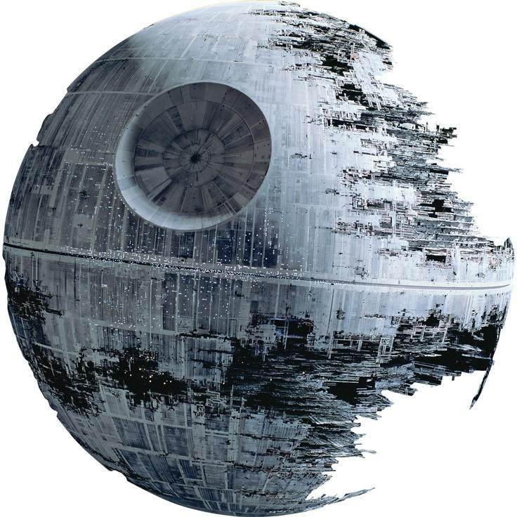 Puede ser una buena idea, pero de nada sirve si no la concretas! Star Wars Death Star Wall Mural by Packmania.