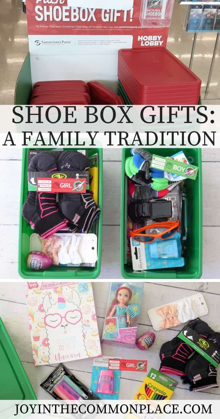 Hobby Lobby, Christmas Shoebox Item Ideas 2020 Our New Family Tradition: Shoe Box Gifts in 2020 | Christmas
