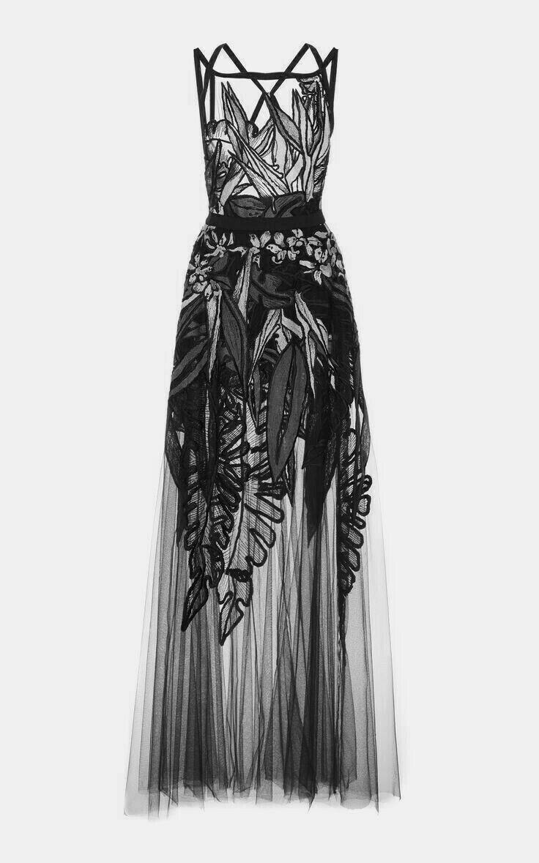 Couture fashion designer elegant dress