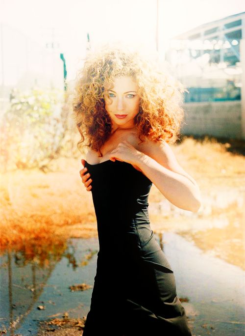 Alex Kingston, my model for Elle, who comes in later.
