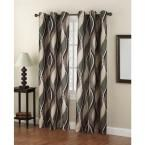LICHTENBERG Semi-Opaque No. 918 Casual Intersect Spruce (Green) Printed Grommet Top Curtain Panel (Price Varies by Size)