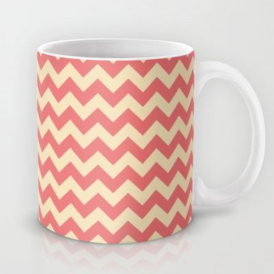 Red Chevron Pattern Mug by Tami Art - $15.00