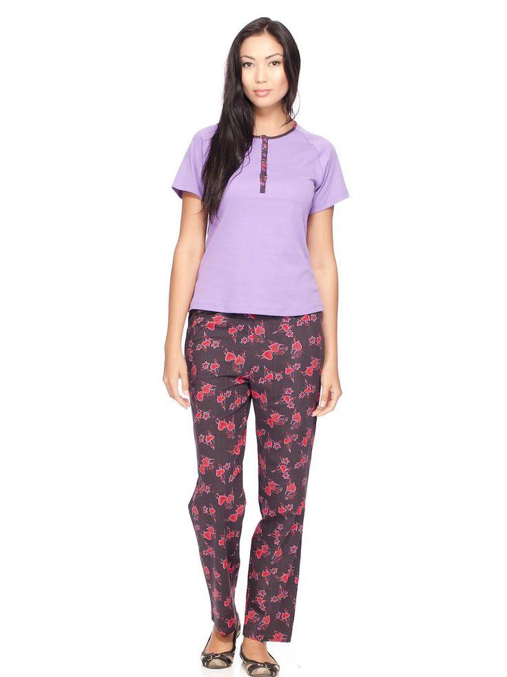 Пижама фиолетового цвета