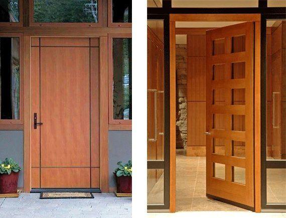 تفصيل ابواب خشبيه وديكورات وشبابيك و صالونات بأسعار مناسبه للتواصل 0566625444 الصوره عليك والتنفيذ علينا ملحوظه الصور مقتبسه من النت ويمكن تنفيذ كافه الصور Contemporary Front Doors Door Design Front Door Design
