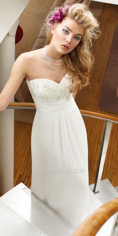 Goes up to size 26. Camille La Vie Chiffon Grecian Wedding Dress at eDressMe #affiliatelink