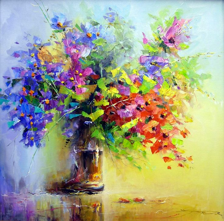 Eugene Loskutov - Евгений Лоскутовa (b.1949) Waltz of the Flowers artist ,şa
