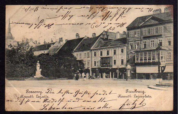 90236 AK Bratislava  Pressburg Pozsony Kosuth Lajosplatz  um 1900