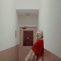 grafika vintage, red, and girl