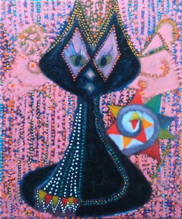 """Saatchi Art Artist Stephia Gonzalez; Painting, """"KAT"""" #art"""