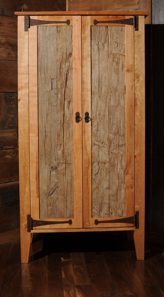 reclaimed wood armoire wardrobe closet by on etsy