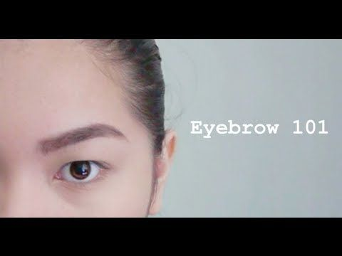 Asian eyebrow: How to fill in with powder or pencil - YouTube