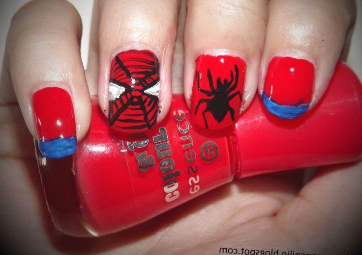 Unhas Decoradas com Homem Aranha
