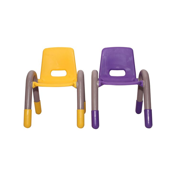 """THE VOLVER ENGINEERING PLASTIC KIDS CHAIR YELLOW AND PURPLE PAIR  Having young children sit in a chair that is designed for them is important in developing proper sitting habits that will last them a lifetime. Not only are these chairs designed properly, but they are lightweight so kids can feel independent by moving the chairs themselves. """"kids furniture"""" """"kids study chair"""" """"kids study table"""" """"study chair and table"""" """"study table for kids"""" """"kids table"""""""