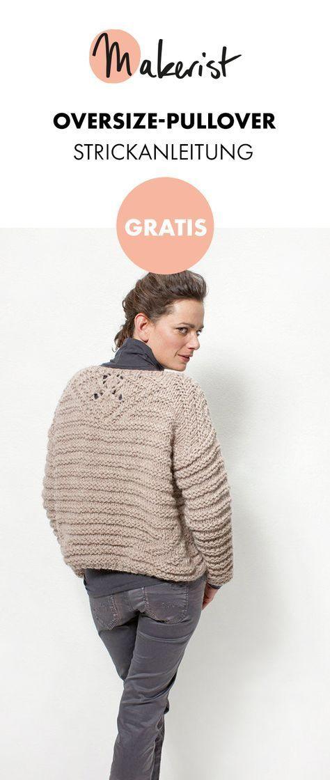 Gratis Anleitung: Oversize-Pullover stricken - kostenlose ...