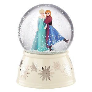 Classics Lenox - Frozen - Elsa and Anna 5 Inch Musical Snow Globe ...
