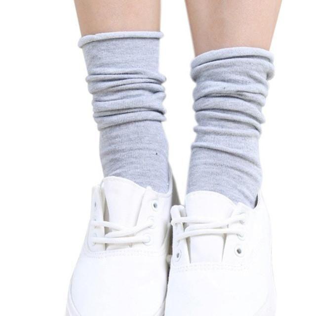 Women Socks Female Candy Curling Heap Knitting Socks Boot Liner Socks Pile Winter Socks calcetines mujer