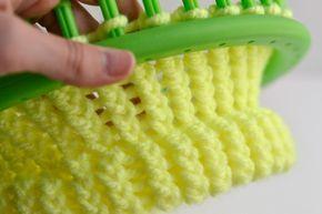 Wasel Wasel | Cómo utilizar un telar circular: hacer un borde | http://www.waselwasel.com