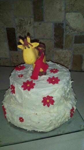Giraffe cake I made for my sister