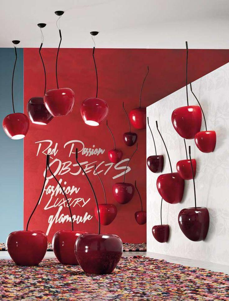 Mobili e complementi d'arredo di colore rosso - Lampada a sospensione rossa