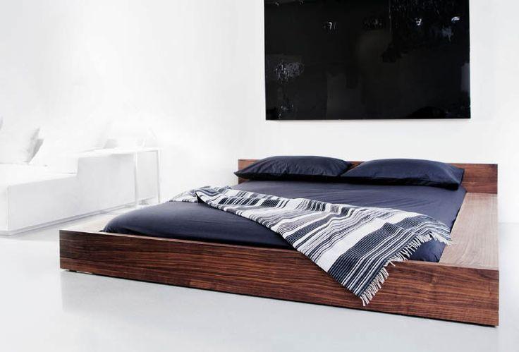 Low platform queen bed