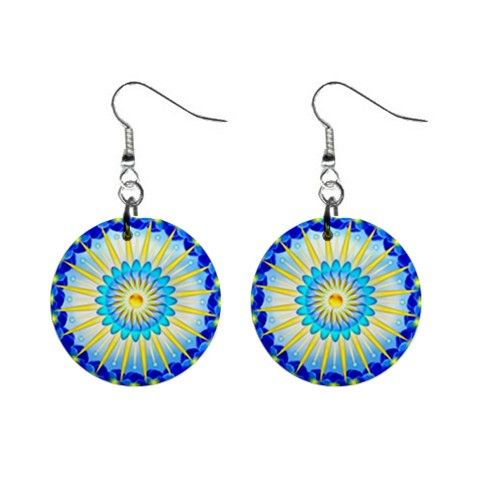 Earrings mandala Sunshine - also for sale on www.etsy.com/shop/droomcreaties