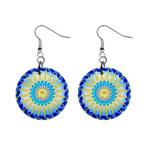 Earrings mandala Sunshine - also for sale on www.etsy.com/shop/droomcreaties