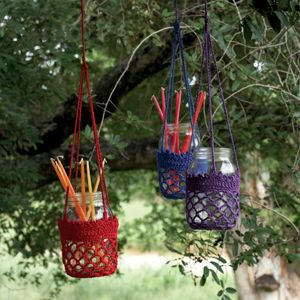 Crotchet Candle Holders.  I think I will have to learn crotchet.  Too many gorgeous things!