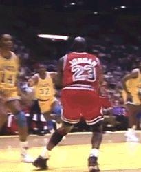 Michael Jordan vs. Sam Perkins GIF