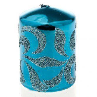 candela di Natale turchese | vendita online su HOLYART