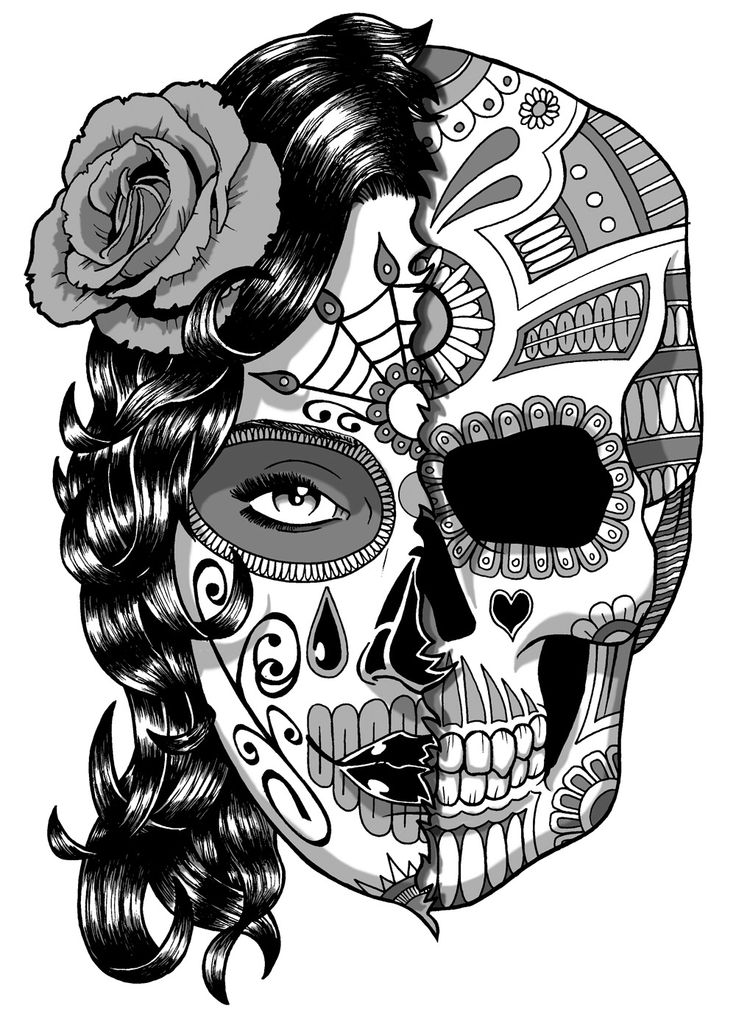 Tattoo skull girl