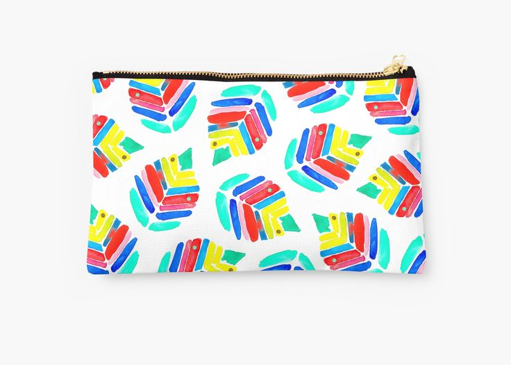 Birch watercolor pattern. Inspired by summer colors • Also buy this artwork on bags, apparel, stickers, and more.Birch abstract watercolor pattern. Tropical bold colors. @redbubble #redbubble #art #design #pattern #summer #artist #botanical #birch #fun #trendy #designs #bag #studiopouch