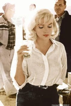 Marilyn Monroe on the set of 'The Misfits', 1961.