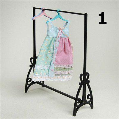 Rack for clothes and a set of hangers size 1/6, yosd, bjd, momoko, u-noa, barbie, FR, azone, blythe, monster high