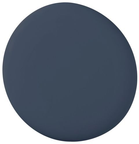 """""""I like this deep slate blue. I think people are going for rich, robust colors now, and this would be wonderfully unexpected in an entry, a library, or a powder room. I'd pair it with brass or gold accents and animal patterns like leopard or zebra. Do it in high gloss and it will feel both glamorous and contemporary. Grass cloth or tea paper on the ceiling would add to the drama."""" — Ron Woodson"""