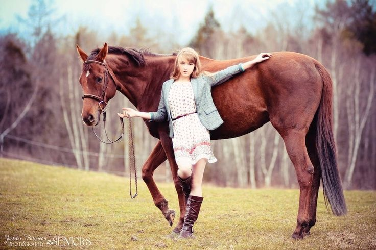 A girl & her horse <3  #senior #horse